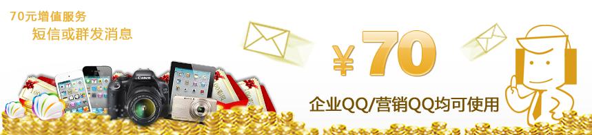 70元增值服务,短信或群发消息